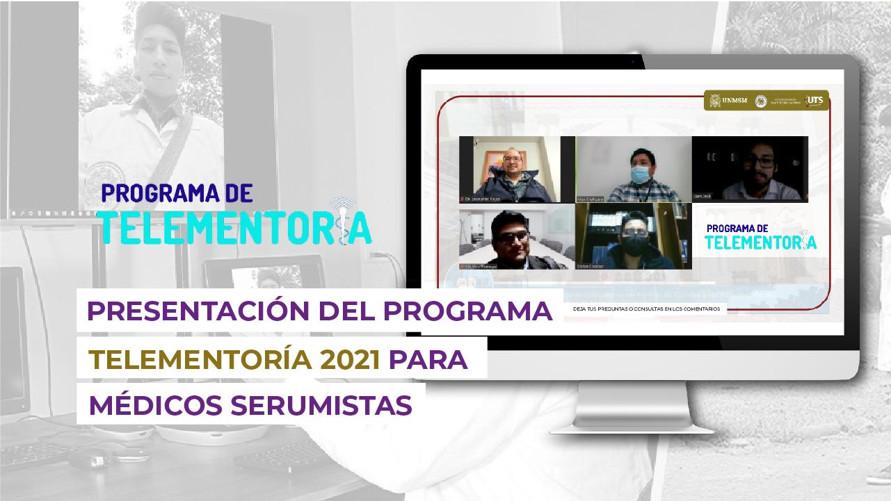 Presentación del Programa de Telementoría 2021 para médicos serumistas sanfernandinos