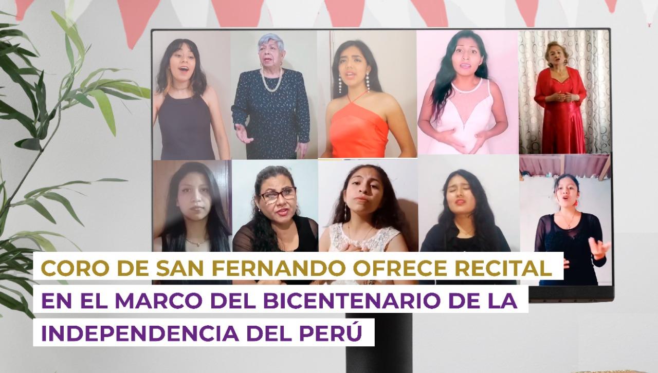 Coro de San Fernando ofrece recital en el marco del Bicentenario de la Independencia del Perú
