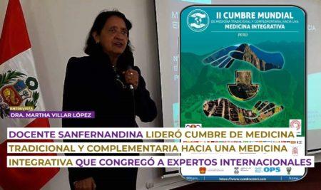 Docente sanfernandina lideró Cumbre Medicina Tradicional y Complementaria hacia una Medicina Integrativa que congregó a expertos internacionales