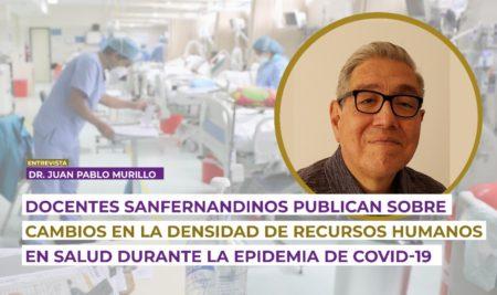 Docentes sanfernandinos publican sobre cambios en la densidad de recursos humanos en salud durante la epidemia de COVID-19