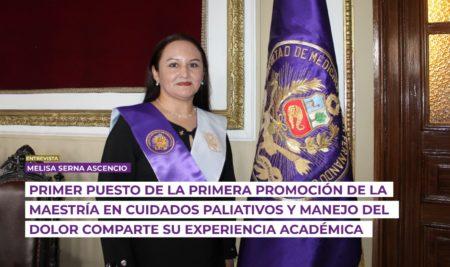 """Primer puesto de la primera promoción de la """"Maestría en Cuidados Paliativos y Manejo del Dolor"""" comparte su experiencia académica"""
