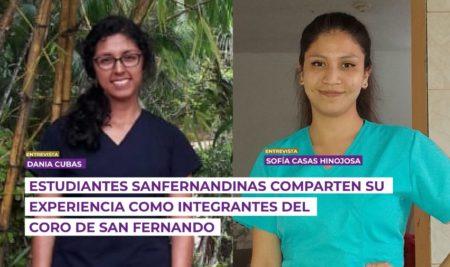 Estudiantes sanfernandinas comparten su experiencia como integrantes del Coro de San Fernando