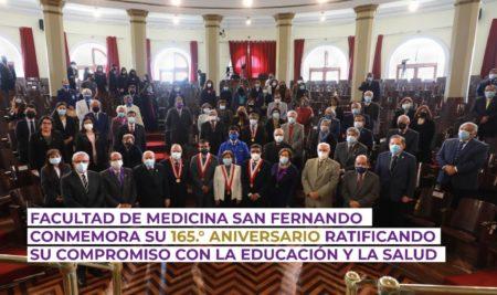 Facultad de Medicina San Fernando conmemora su 165.° aniversario ratificando su compromiso con la educación y la salud