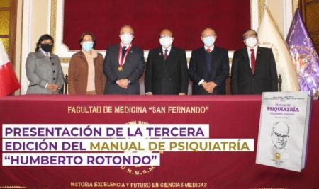 """Presentación de la Tercera Edición del Manual de Psiquiatría """"Humberto Rotondo"""""""